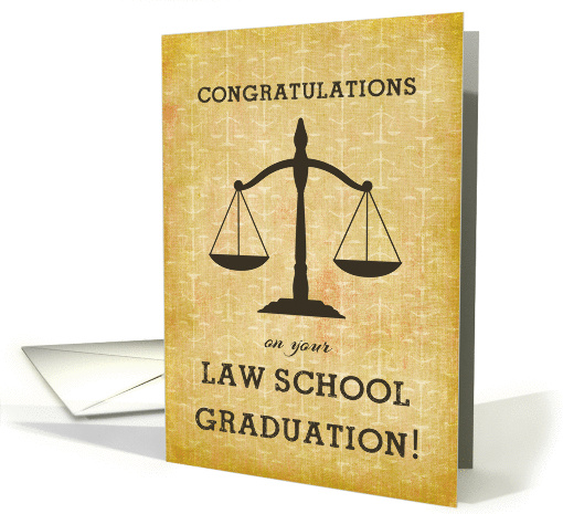 Law School Graduation Congratulations Scale Of Justice