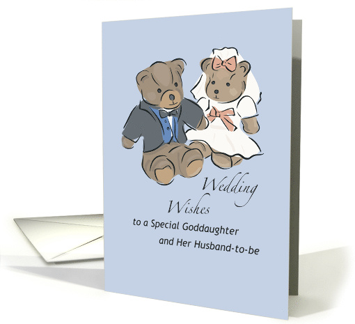 Wedding Wishes For Goddaughter With Teddy Bears Congratulations Card