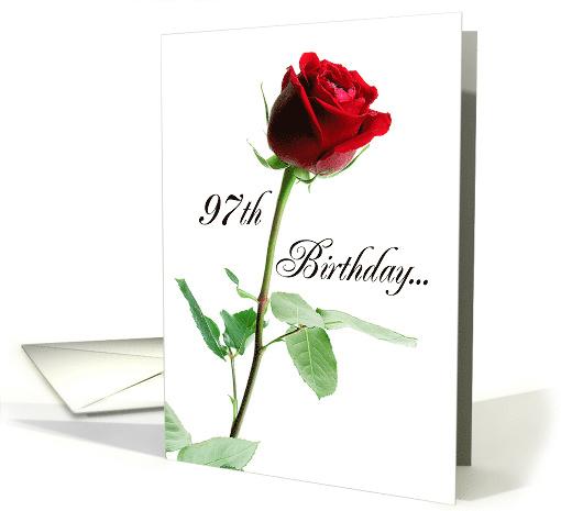 97th Birthday Red Rose Card 265277