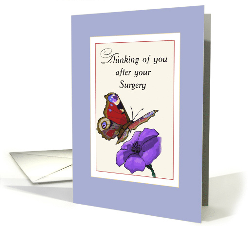 Surgery Get Better With Butterfly And Flower Card 527711