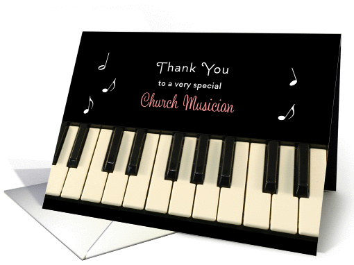 For Church Musician Thank You Greeting 1046803