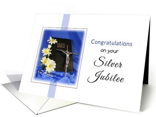Silver Jubilee Greeting Card Religious Life 925077