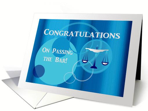 Congratulations Passing The Bar Scales Aqua Blue Circle