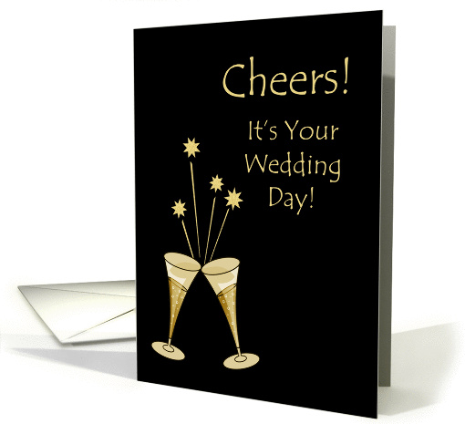 Champagne Toast Wedding Congratulations Card 940673