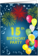15th birthday invitations from greeting