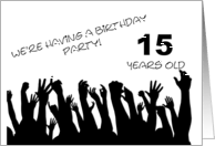 15 year old birthday party invitations