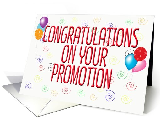 Work Promotion Congratulations