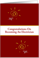 Congratulations on Becoming a Licensed Electrician Cards