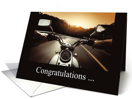 CongratulationsGetting Your Motorcycle License Card 1225438