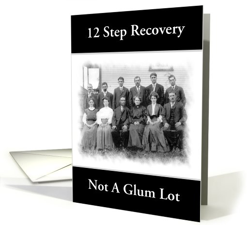 12 Step Recovery Humor Group Photo Custom Card 950381