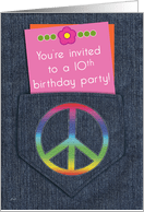 10th birthday invitations from greeting