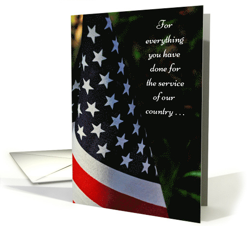 Thank You On Veterans Day American Flag Card 516021