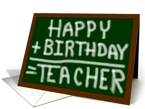 Happy Birthday Teacher Card 769307