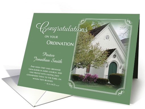 Pastor Ordination Congratulations Card 505519