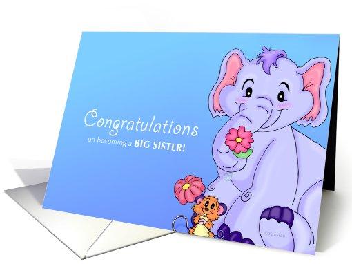 Flower Friends Big Sister Congratulations Card 666780