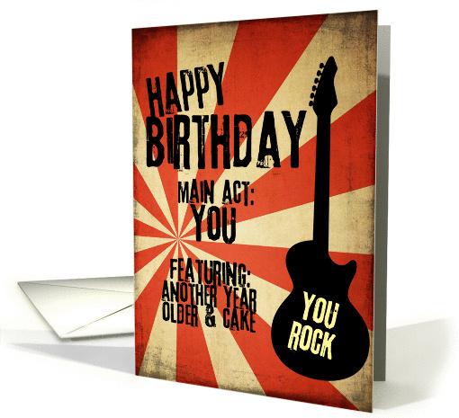 Rock Band Grunge Birthday Card 1418984
