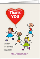 Thank You 1st Grade Teacher Cards From Greeting Card Universe