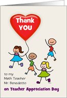 Math Teacher Appreciation Day Cards From Greeting Card