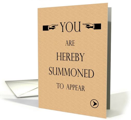 Law School Graduation Party Invite You Are Summoned Card