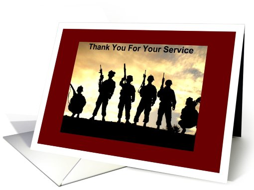 Military Thanks For Service Card 457423