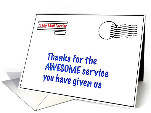 Thank You To My Mail Carrier Card 401719