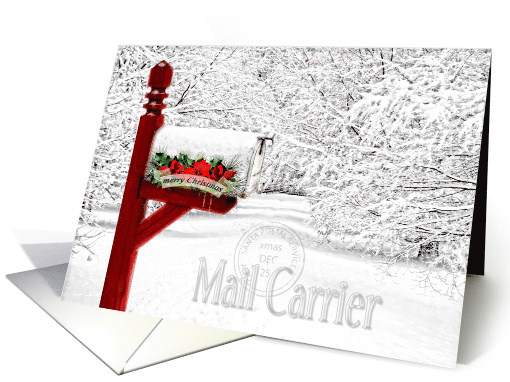 For Mail Carrier Postal Worker Christmas Winter Mailbox