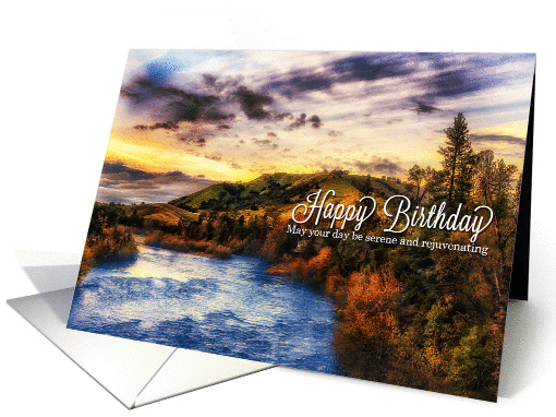 Happy Birthday American River Scenic View Card 424488