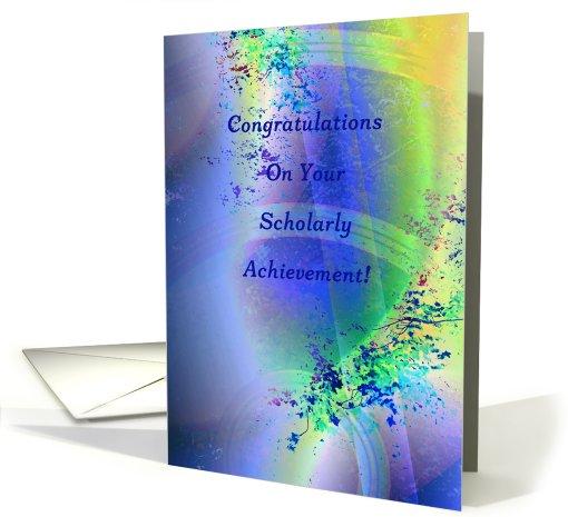 Congratulations Scholarly Achievement card 822426