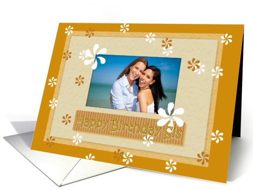 Birthday Sister Photo Card Scrapbook Style Frame Card