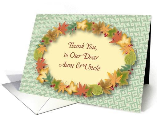 Thank You For Aunt And Uncle Wreath Card 933044