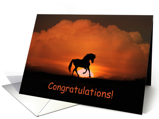 Congratulations On Your New Horse Card 1278720