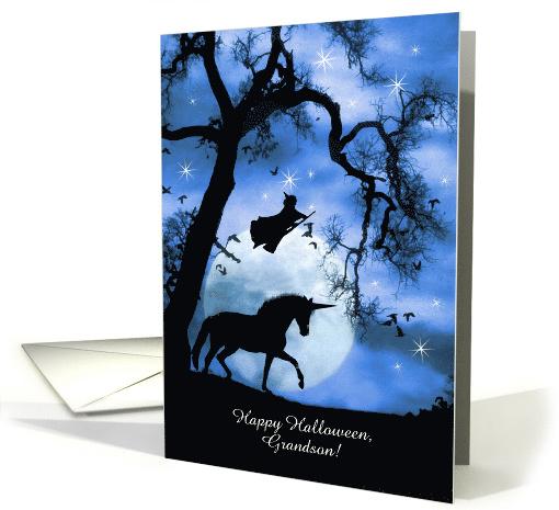 Happy Halloween Magic Witch And Unicorn Customizable