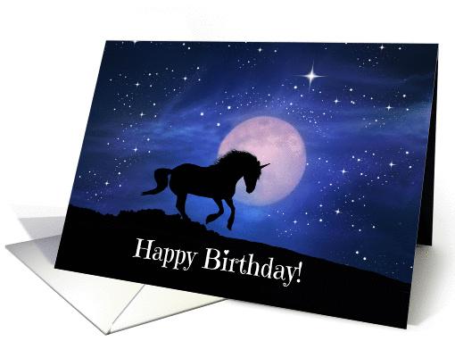 Unicorn Fantasy Happy Birthday Card 1437646