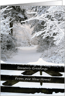 Holiday Specific Moving Announcements From Greeting Card