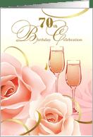 70th Birthday Party Invitation Card