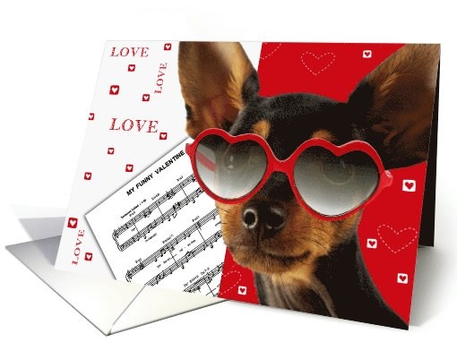 Valentines Day Card With Funny Dog Card 895997