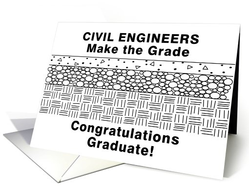 Funny Civil Engineering Graduation Card 539085