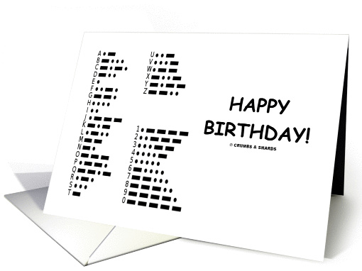 Happy Birthday International Morse Code Communication card