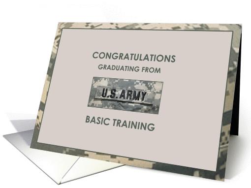 Army Graduation Basic Training Greetings Card 927572