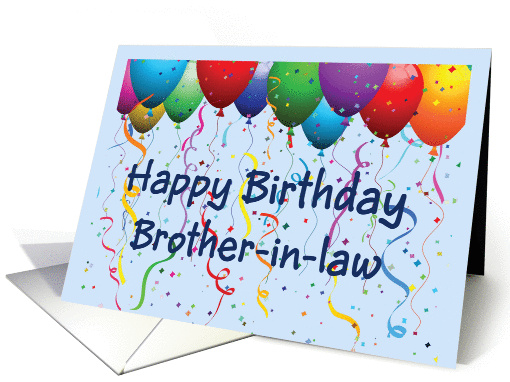 Happy Birthday Brother In Law Balloons Card 894749