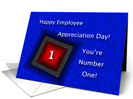Employee Appreciation Day Youre Number One Card 896829