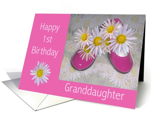 Pink Shoes Amp Daises Granddaughters 1st Birthday Card 780746