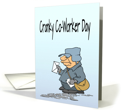 Cranky Co Worker Day Grumpy Mail Man Mail Menopause Pun