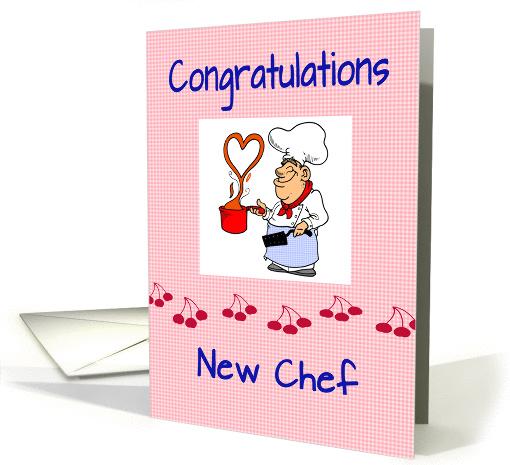 New Chef Congratulations Gingham Cherries Pan Braise