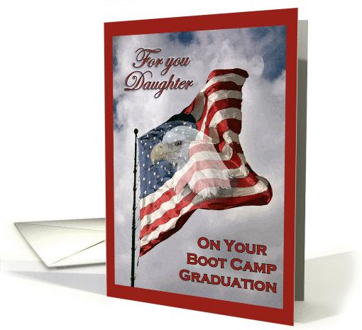 Boot Camp Graduation Daughter American Flag Amp Eagle