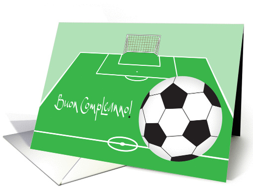 Buon Compleanno Con Pallone Da Calcio Italian Soccer
