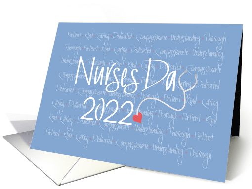 Hand Lettered Nurses Day 2019 Stethoscope With Nursing