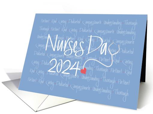 Hand Lettered Nurses Day 2020 Stethoscope With Nursing