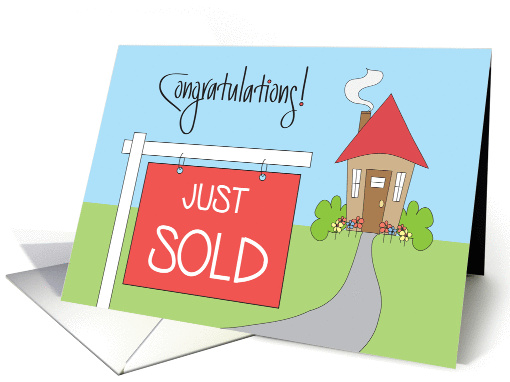 Realtor Congratulations For Home Sale Sold Sign And