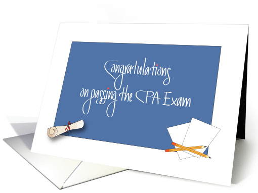Congratulations On Passing CPA Exam Diploma And Papers